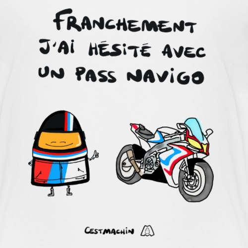 La moto ou le pass navigo - T-shirt Premium Enfant