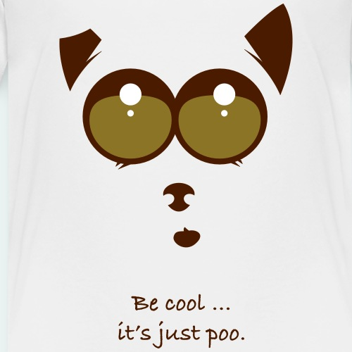 Be cool and poo - Kinderen Premium T-shirt