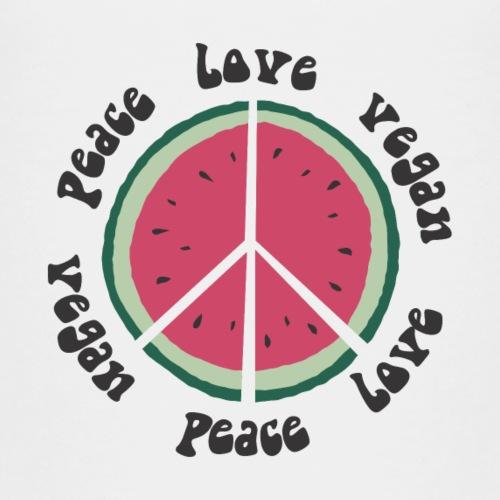 vegan peace love watermelon - Kinder Premium T-Shirt