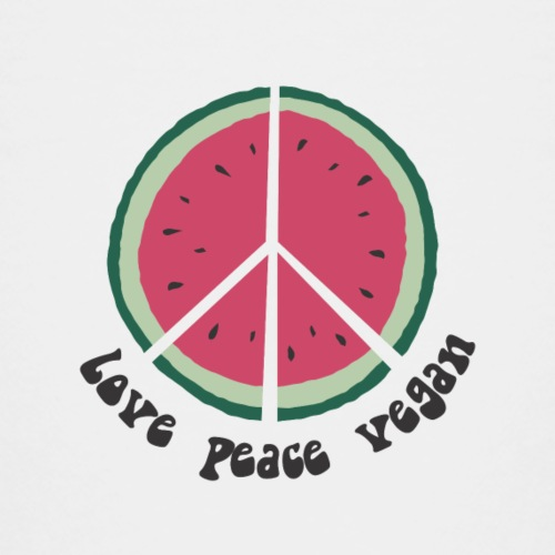 love peace vegan watermelon - Kinder Premium T-Shirt