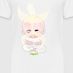 meditation with lotus - Kids' Premium T-Shirt
