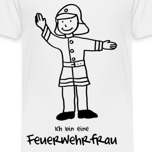 Feuerwehrfrau zum Ausmalen - Kinder Premium T-Shirt