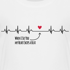 When I see you my heart skips a beat - Kinder Premium T-Shirt