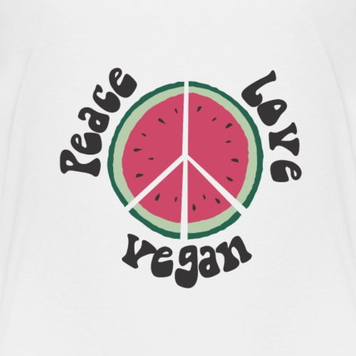 peace love vegan wassermelone - Kinder Premium T-Shirt