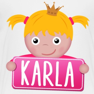Little Princess Karla - Premium-T-shirt barn