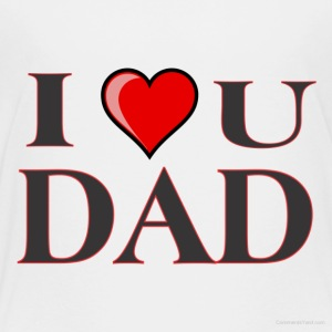 I love you dad - Kinderen Premium T-shirt