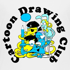Cartoon Tekening Club - Kinderen Premium T-shirt