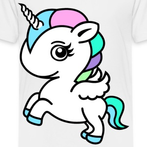 Fargerik Unicorn - Premium T-skjorte for barn