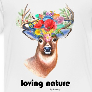 Deer with flowers - Kids' Premium T-Shirt