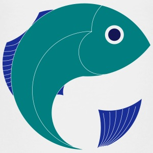 Fish, cartoon, graphic, Navy, Sea - Kids' Premium T-Shirt
