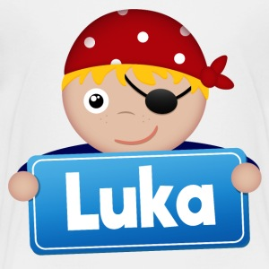 Little Pirate Luka - Premium-T-shirt barn
