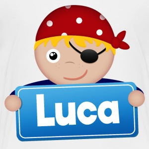 Little Pirate Luca - Premium-T-shirt barn