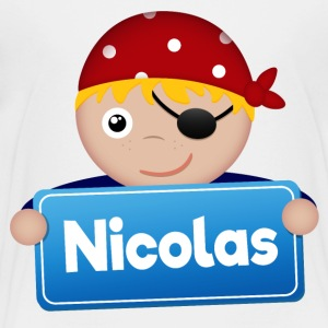 Lite Pirate Nicolas - Premium T-skjorte for barn