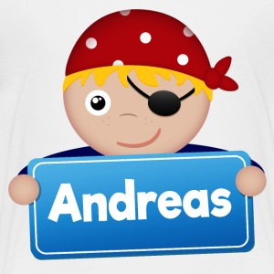 Lite Pirate Andreas - Premium T-skjorte for barn