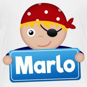 Little Pirate Marlo - Premium-T-shirt barn