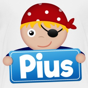 Little Pirate Pius - Premium-T-shirt barn