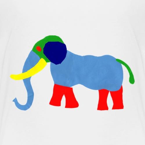 Luisa-0006-Elephant - Kinder Premium T-Shirt