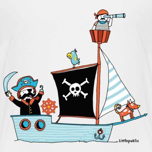 Berlin Piratenschiff   farbig - Kinder Premium T-Shirt