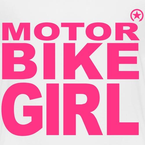 Dziewczyna motocykl - Koszulka dziecięca Premium