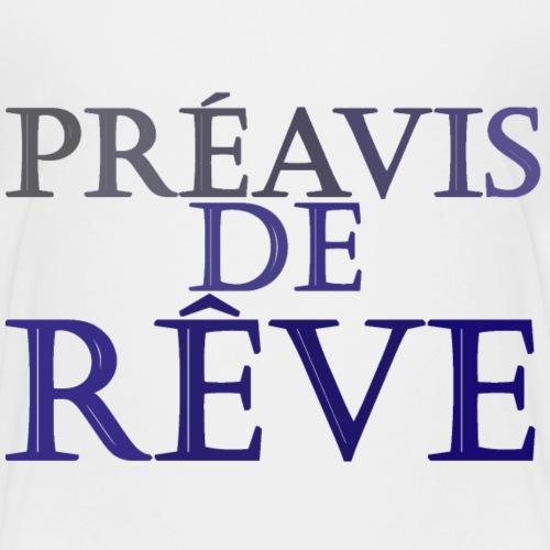 préavis de rêve (bleu) - T-shirt Premium Enfant