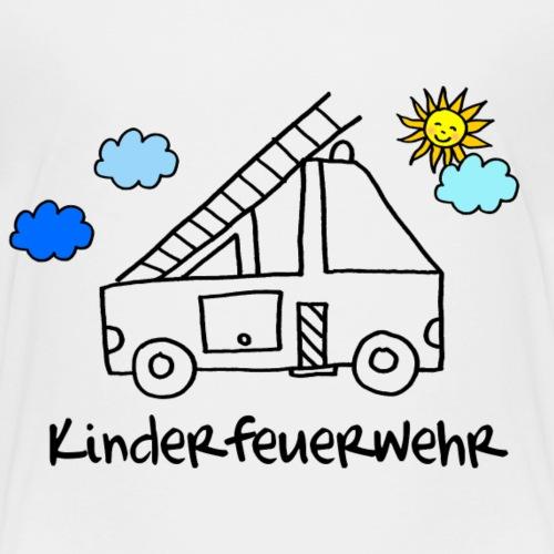 Feuerwehrauto zum Ausmalen für Kinder - Kinder Premium T-Shirt
