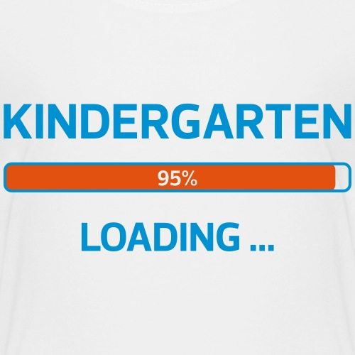 Kindergarten loading 01 - Kinder Premium T-Shirt