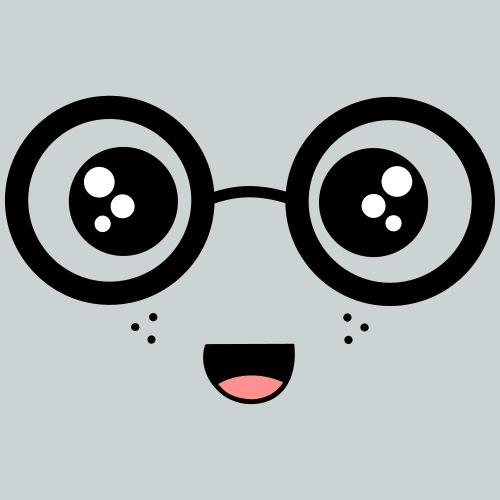 Sweet face with glasses - Kids' Premium T-Shirt