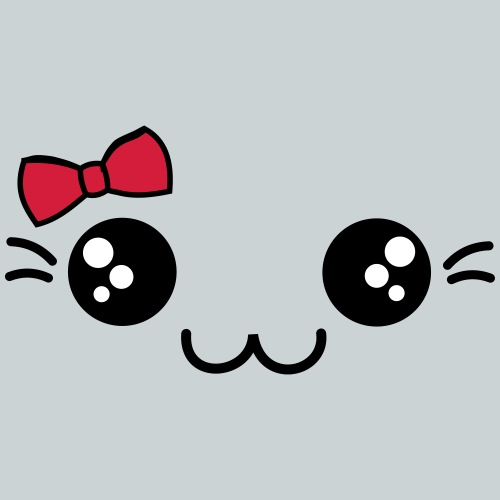 sweet face with bow - Kids' Premium T-Shirt