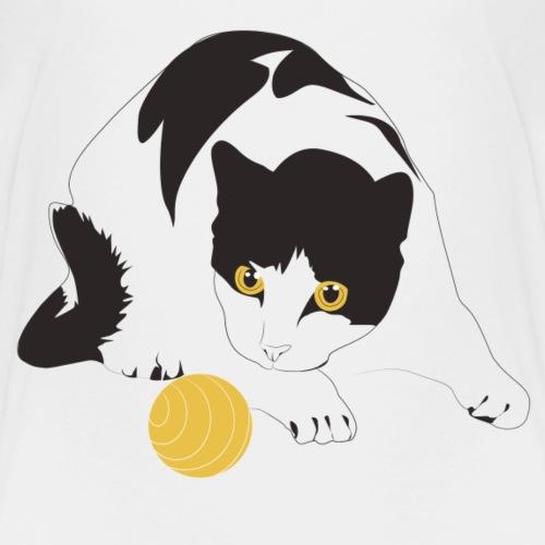 Katzen T Shirt mit Katzenmotiv spielende Katze - Kinder Premium T-Shirt