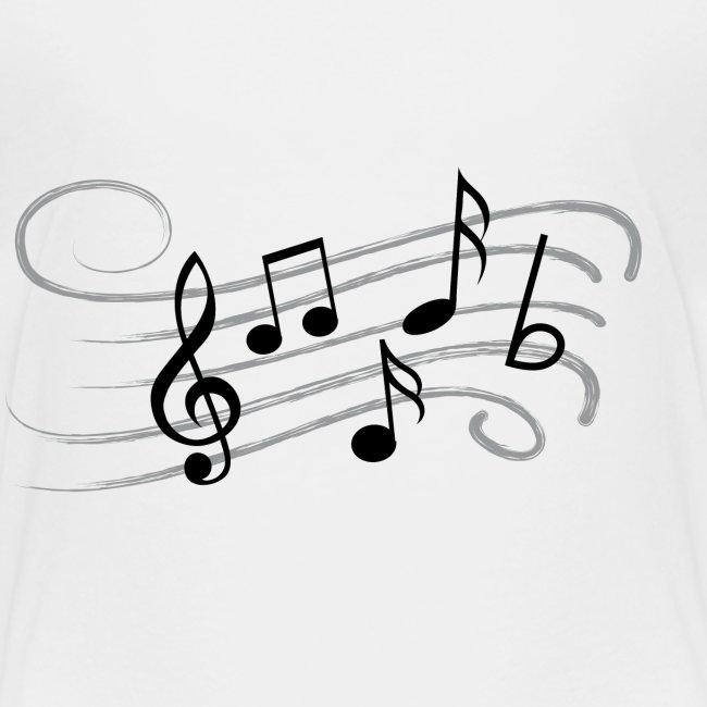 Muzikale bladmuziek muzieknoten patroon. Muziek