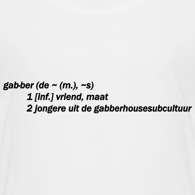 gabbers definitie