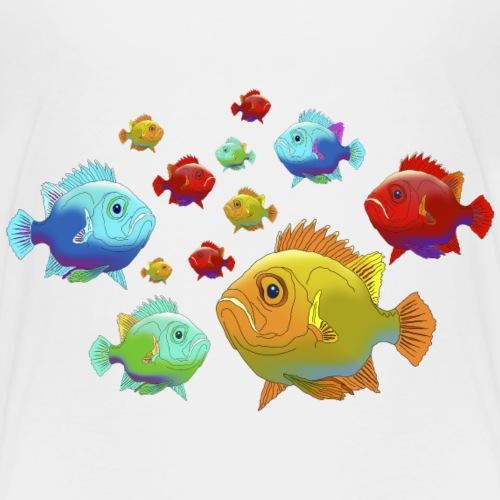 Fisch Barsch Ozean Meer Wasser Aquarium Angeln - Kids' Premium T-Shirt