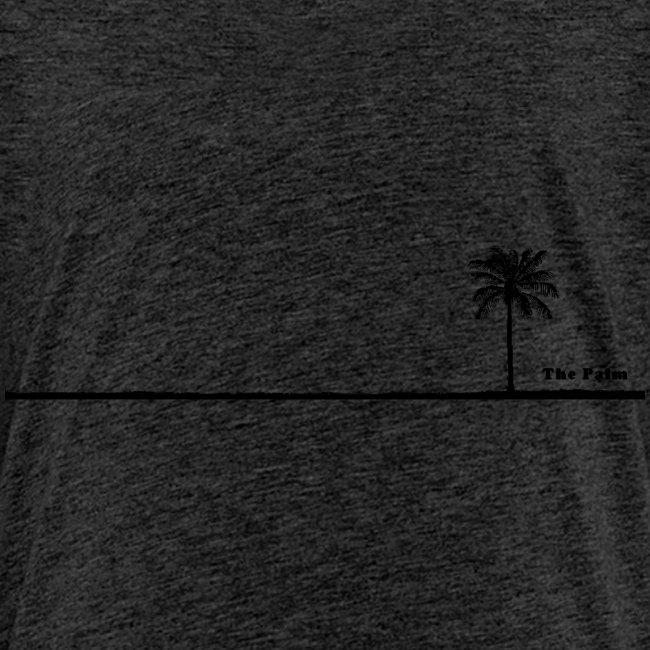 Palm dubai beach black and white