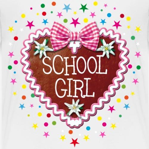 27 School Girl Lebkuchenherz Sternchen - Kinder Premium T-Shirt