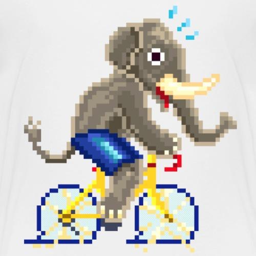 CYCLING ELEPHANT / ELEFANTE / ELEFANT - Maglietta Premium per bambini