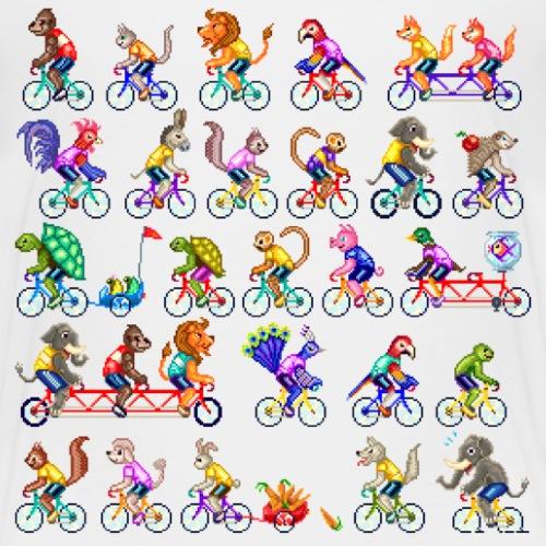 CYCLING ANIMALS - Maglietta Premium per bambini