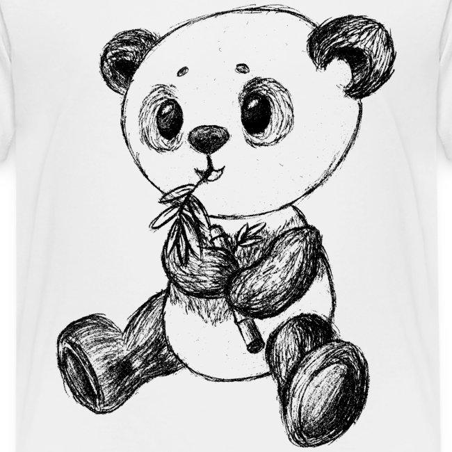 Panda Bär schwarz scribblesirii