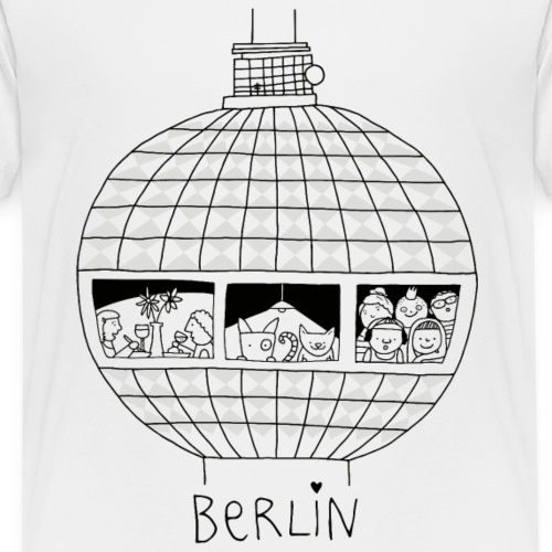 Berliner Fernsehturm   zum Ausmalen   littlepublic - Kinder Premium T-Shirt