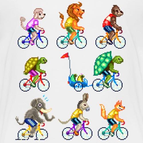 CYCLING ANIMALS 9 (version 2) - Maglietta Premium per bambini