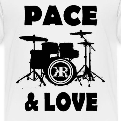 Batterie Noir et blanc Pace and Love