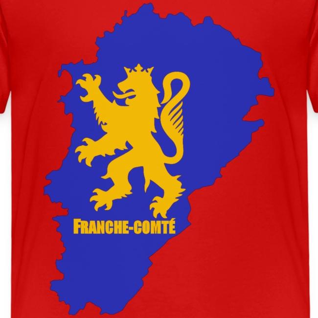Carte Franche-Comté + lion
