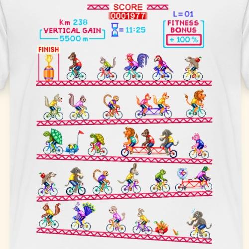 CYCLING ANIMALS GAME SCREEN - Maglietta Premium per bambini
