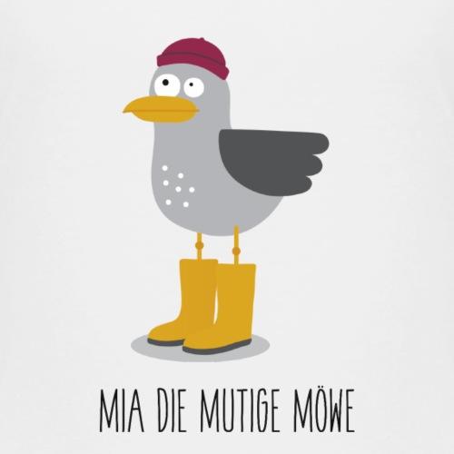 Spendenmotiv 5: Mia, sterben Mutige Möwe (mit Text) - Kinder Premium T-Shirt