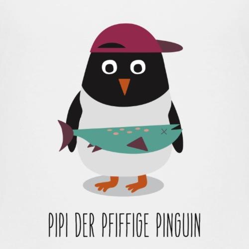 Spendenmotiv 8: Pipi der pfiffige Pinguin (Text) - Kinder Premium T-Shirt
