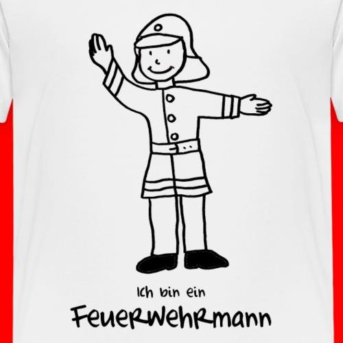 Feuerwehrmann Motiv zum Ausmalen - Kinder Premium T-Shirt