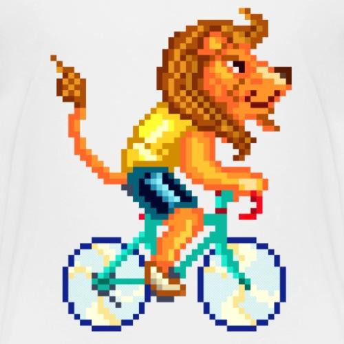 CYCLING LION / LEONE CICLISTA / RADELNDER LÖWE - Maglietta Premium per bambini