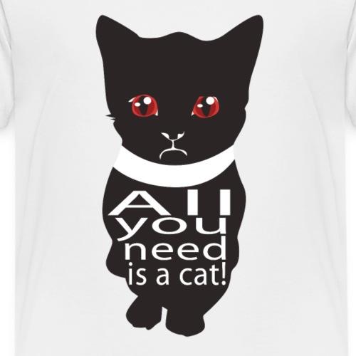 Katzen T Shirt mit Katzenmotiv Katze need a cat - Kinder Premium T-Shirt