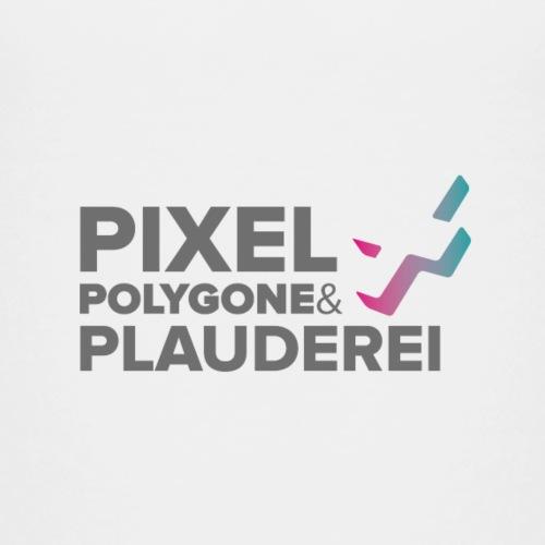 Pixel Polygone Plauderei Logo Grau - Kinder Premium T-Shirt