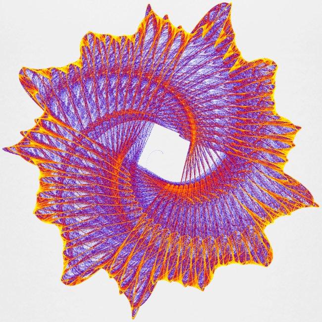 Spiral fan ammonite prehistoric animal fossil 11912bry