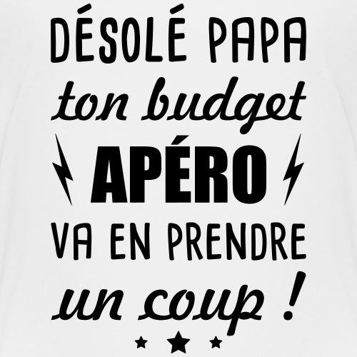Désolé papa ton budget apéro, naissance, grossesse - T-shirt Premium Enfant